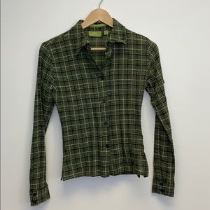 3/$30 MNG Green and black women's,leisure Blouse